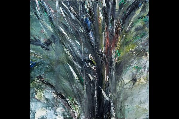 Bouquet d'arbres, 40x40