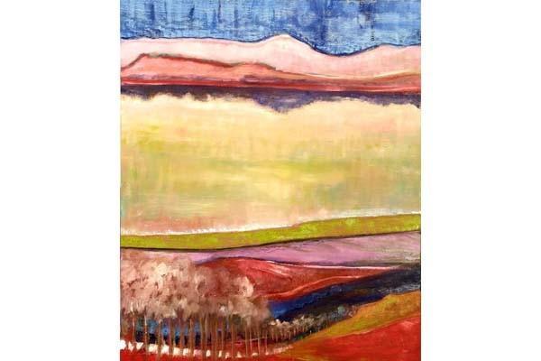 Lac au printemps, 73x60