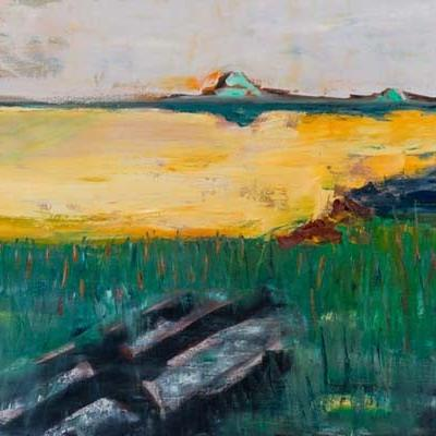 Lac jaune, 80x60