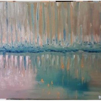 Lumière sur l'étang, 33x46