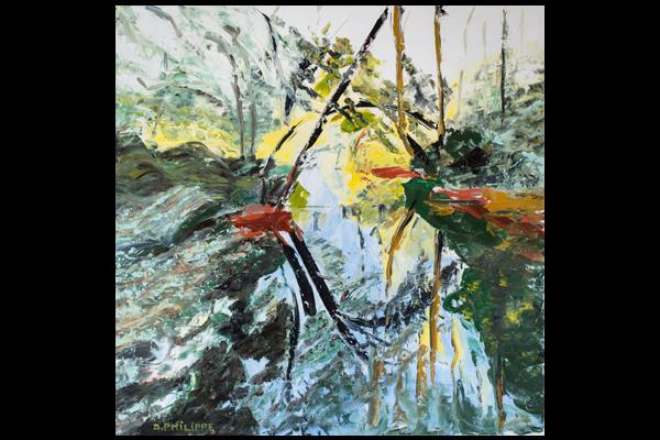 L'étang 002, 60x60