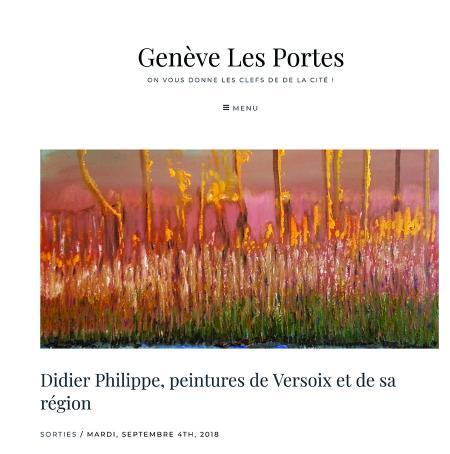 Didier Philippe interviewé par Genève Les Portes