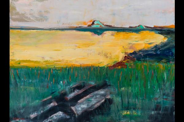 Didier Philippe, Lac jaune, 80x60