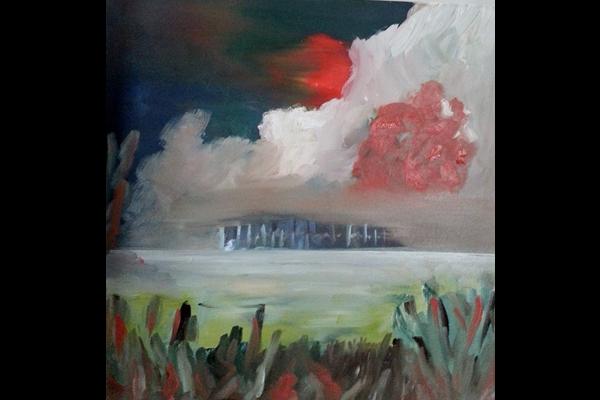 Didier Philippe, Le vent se lève, 50x50