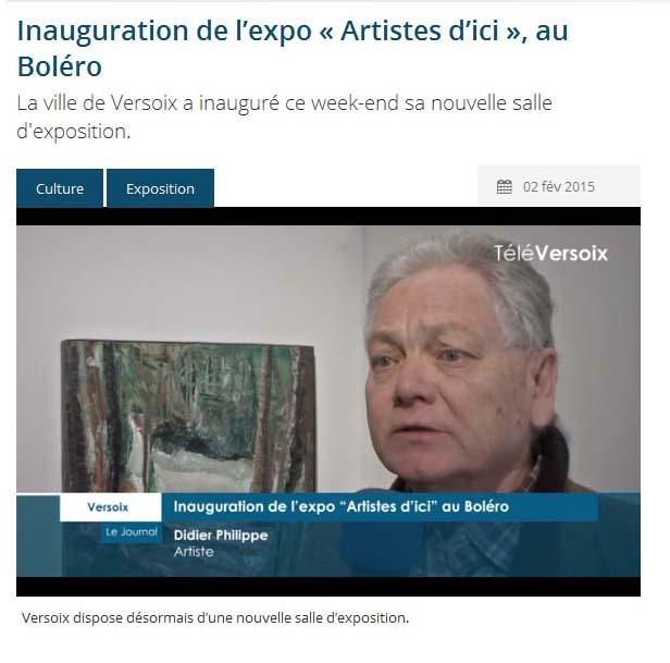 Regarder l'interview sur Télé Versoix